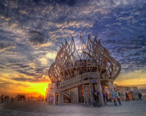 Sunrise at the Temple, Burning Man 2009